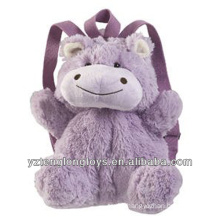 Factory Wholesale Animal Shaped Plush Backpack Hippo Backpack