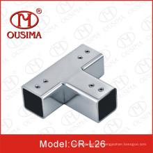3 maneiras de aço inoxidável porta de vidro Acessory conector