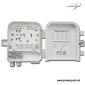 PG-FTTH0208B 8 cores FTTH outdoor wall mount optic fiber wire distribution box