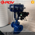 Válvula de control de presión de flujo de vapor de 3 vías de control neumático
