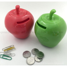 Caixa plástica do dinheiro da caixa do saving do banco de Apple do OEM