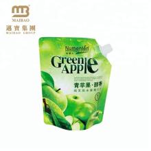 haute qualité impression bon liquide de qualité alimentaire stand up poche avec bec
