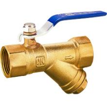 J261 válvula de esfera do filtro de bronze