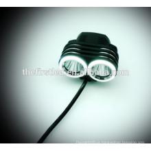 Multi-função de alta potência 1800Lumens 2XCREE XML T6 LED bicicleta luzes com bateria 18650 recarregável