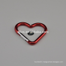 2016 love heart shape of carabiner different shape of carabiner for hiking climbing