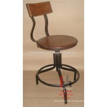 Super Durable Iron & Wood Bar Stuhl