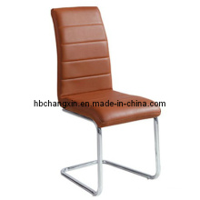 Luxurious and Comfortable Modern Brown Leather Dining Chair