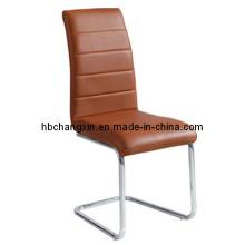 Luxuoso e confortável couro marrom moderno cadeira de jantar