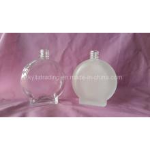 Botella de perfume de cristal de la escarcha de la forma oval 100ml