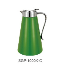 Painted Glass Liner Stainless Steel Shell Coffee Pot Sgp-1000k-C