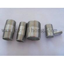 """1-1 / 2 """"en acier inoxydable 316L DIN2999 Pipe Fitting Barrel Nipple"""