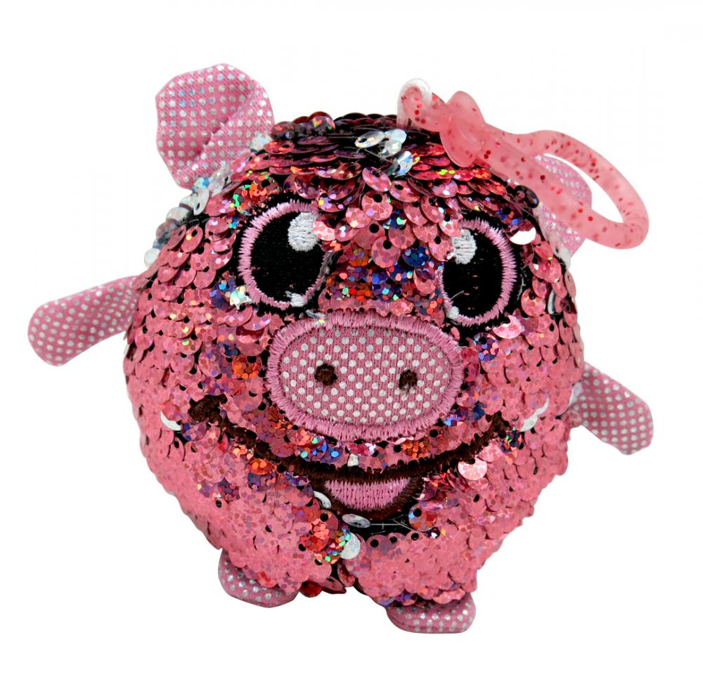 Pink Pig Sequin Key Chain 1