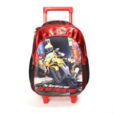 New design 3D EVA Rolling Wheeled School Bags Kids Trolley School Backpack For Boys