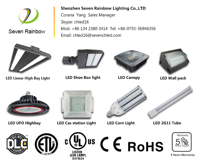 130LM/Watt Commercial Industrial Led Lighting
