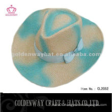 Womens Colored straw cowboy hat for summer