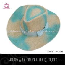 Женская цветная соломенная ковбойская шляпа на лето