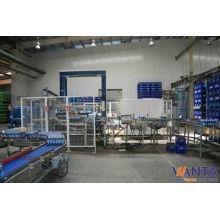 Roller Conveyor Automatic Palletizing Machine With Two Speed Belt Conveyor