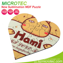 Warm Heart Sublimation Wooden Photo Puzzle