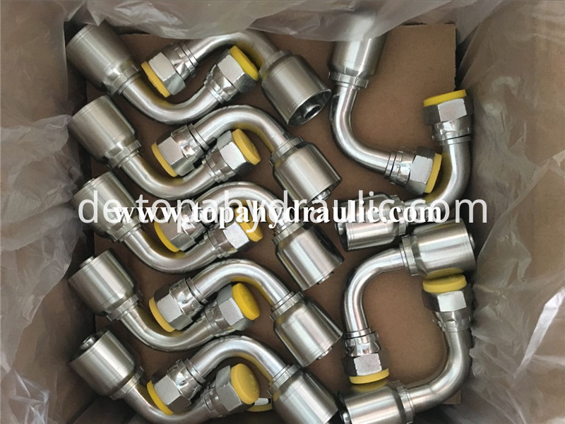 different types premade hydraulic hose couplings