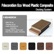 Revestimento composto plástico de madeira exterior do Decking WPC de Eco