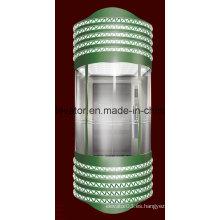 Ascensor panorámico con semicírculo de vidrio de pared (JQ-A003)