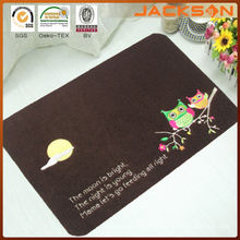 Promotion Price Printed Door Mat with Embroidery