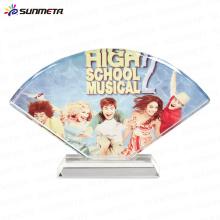 sublimation crystal photo fan shaped BSJ17 235*150*40 mm