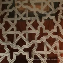 410 Edelstahl geätztes Blatt Ket003 für Dekorationsmaterialien