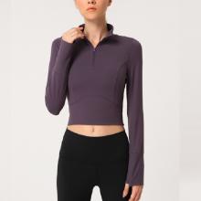 Pullover Crop Womens Fitness Hoodies