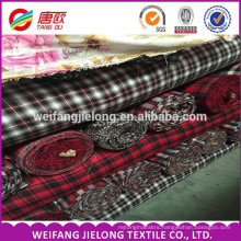 100% Cotton Carded 21s Yarn Dyed Flannel Fabric Best Selling Yarn Dyed Plaid Fabric Wholesale Flannel Fabric