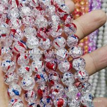Perlas de abalorios hechos a mano al por mayor del aterrizaje del grano UB-054 Crystal Crackle para la joyería