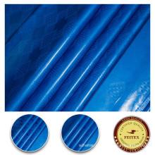 2017 tela de la cortina 100% algodón textil Bazin Brocade aceite color azul Guinea Shadda material de aderezo para el banquete de boda