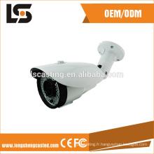 boîtier de surveillance en aluminium cnc cctv appareil photo pièces