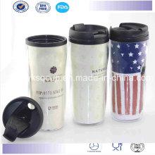 Parede dupla plástico Starbucks caneca, caneca de café, viagem caneca/copo