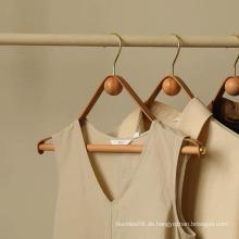 holzbeschichtete Metallhaken Kleiderbügel für Garderobe