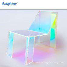 Glossy plastic iridescent acrylic sheet