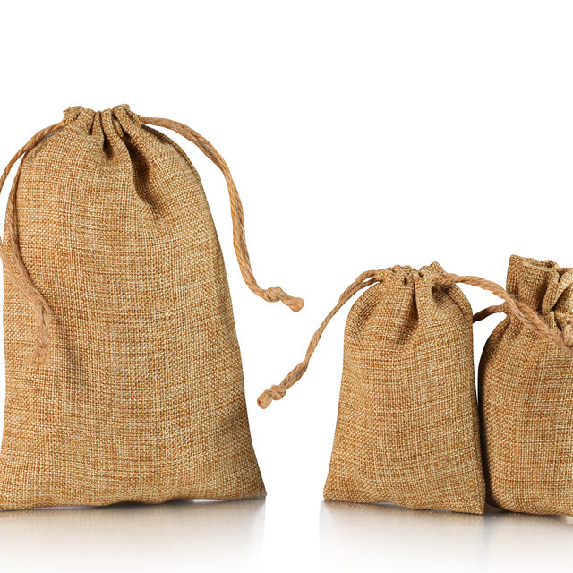 Large jute tote pouch wholesale