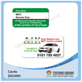 Cartão de identificação de membro de PVC plástico