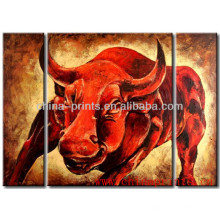 Дизайн современного современного животного корова на холсте