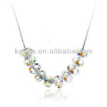 2014 новый продукт 925 серебряные цепи прозрачный кристалл кулон ожерелье