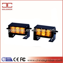 12W Amber Flash luz Estrobo de emergência Split Montagem Deck Dash LED aviso luz SL630
