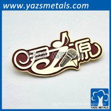 creative custom name plate sticker pin badge