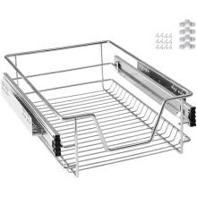 Chrome Finish Kitchen Slide Out Wire Storage Basket