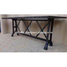 Industrial Dining table, Cast Iron legs New Design