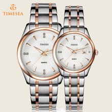 Fashion Men Women′s Couple Date Analog Quartz Wrist Watch 70034