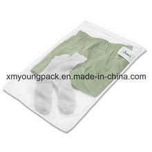 Personalized White Mesh Travel Laundry Washing Bag