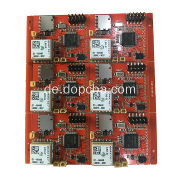 Rote Lötmaske Multilayer PCBA Board für Tracker