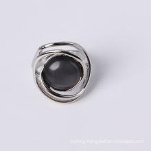 Cheap Price Zinc Alloy Fashion Jewelry Ring with Cat Eye Stone