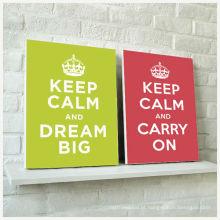 Palavras da decoração da família Mantenha a calma e continue