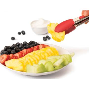 BBQ Grill Kitchen Utensils Non-slip Silicone Salad Tong